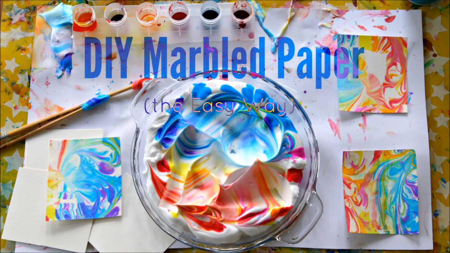 Shaving Cream Marbling with Kids – Instructions &