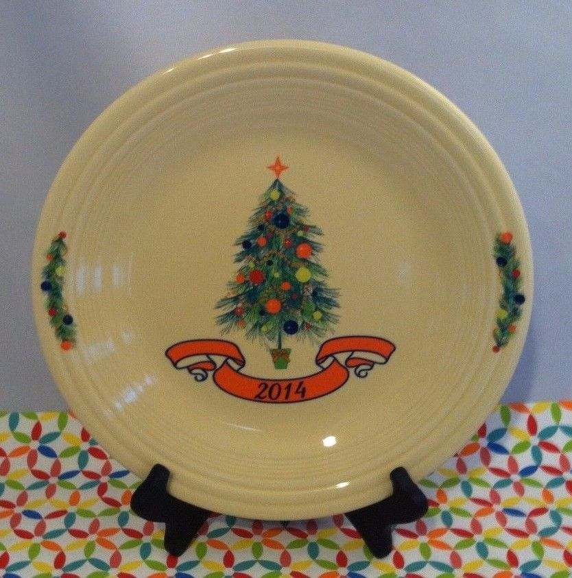 Fiestaware Christmas Tree Dinner Plate Fiesta 2014 Poppy Holiday Plate NWT : fiesta dinnerware christmas tree collection - pezcame.com