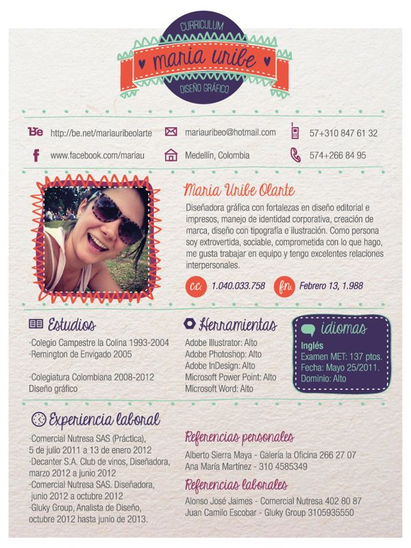 Cool resume design on Behance Sure to Inspire Pinterest - cool resume ideas