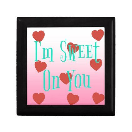 i'm sweet on you | custom valentine's day hearts gift box, Ideas