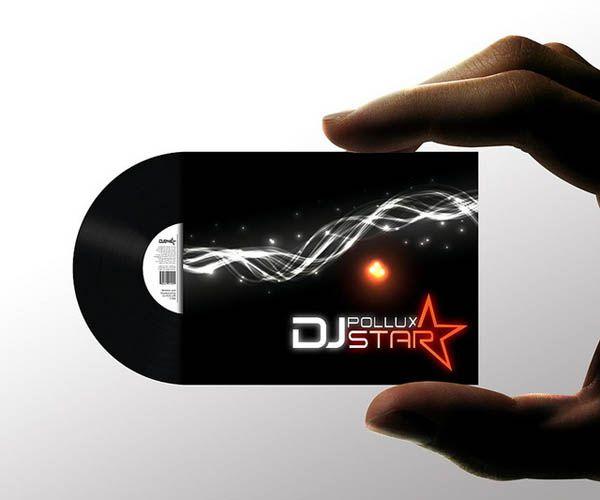 Custom shaped dj pollux star business cardg 600500 namecard custom shaped dj pollux star business cardg reheart Images
