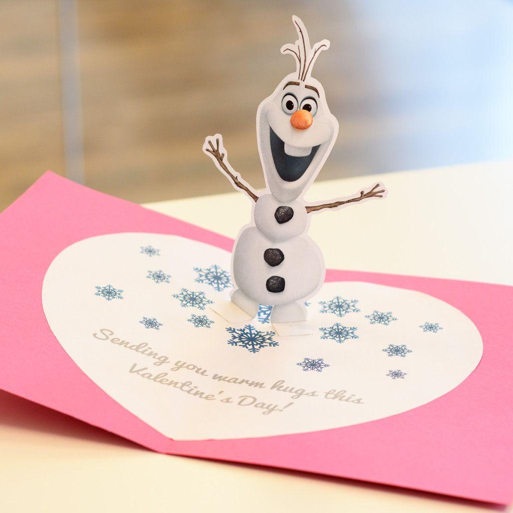 olaf's popup valentine's card  inspire my disney