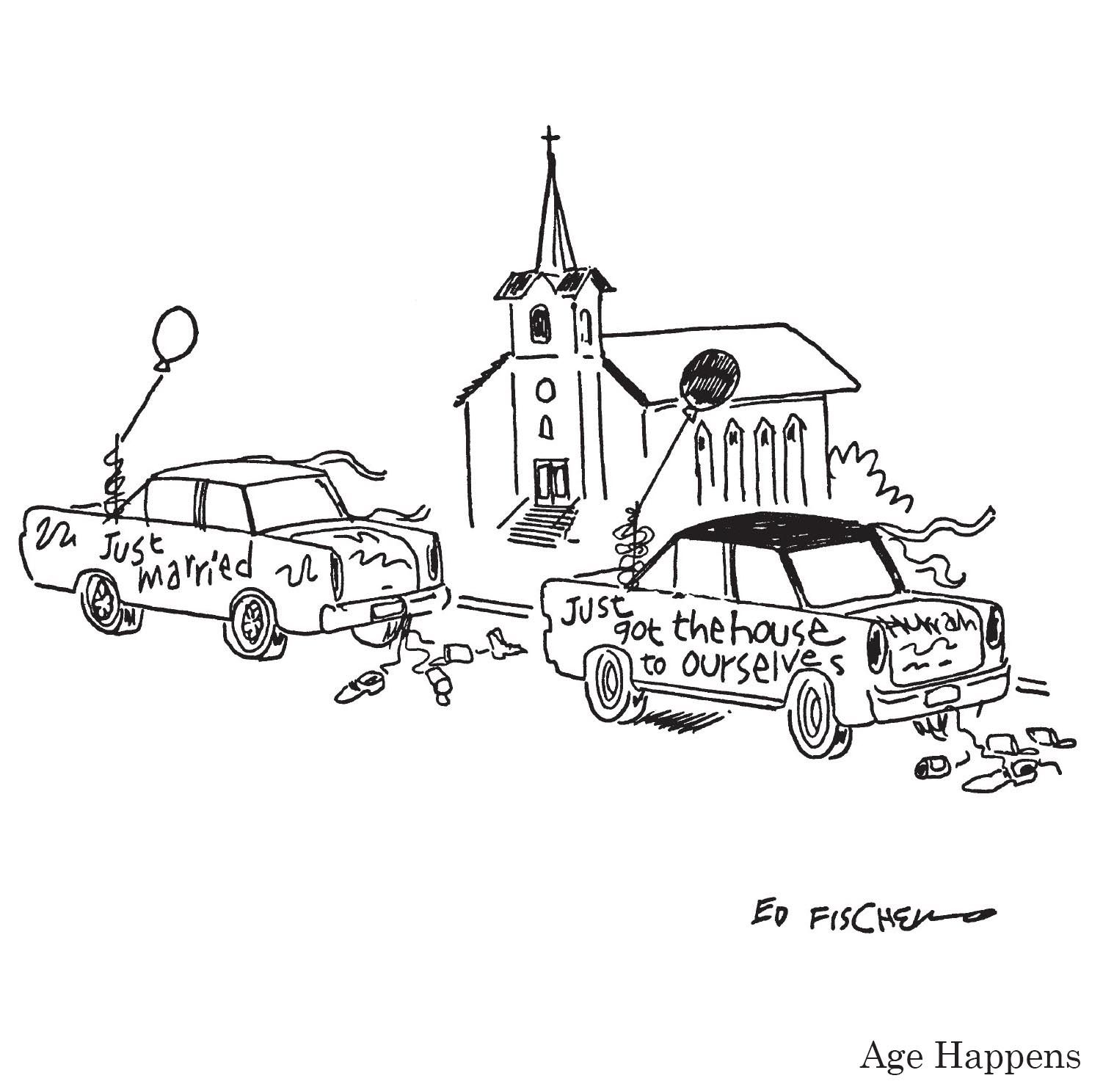 "Just Married Quotes Just Married""  A Cartooned Fischer From Age Happens Available"
