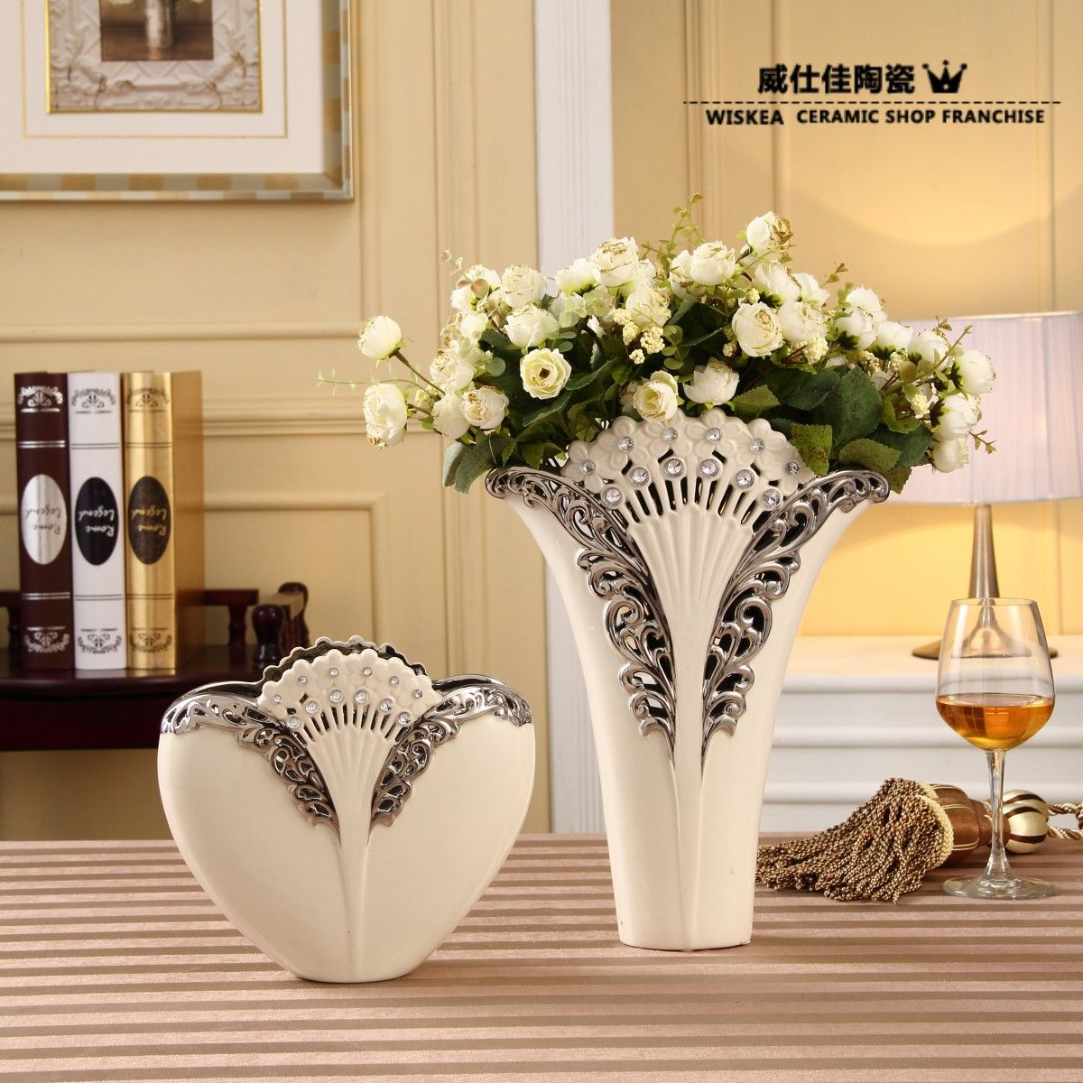 modern home decoration porcelain vase flower fashion family pack repair craftschina mainland