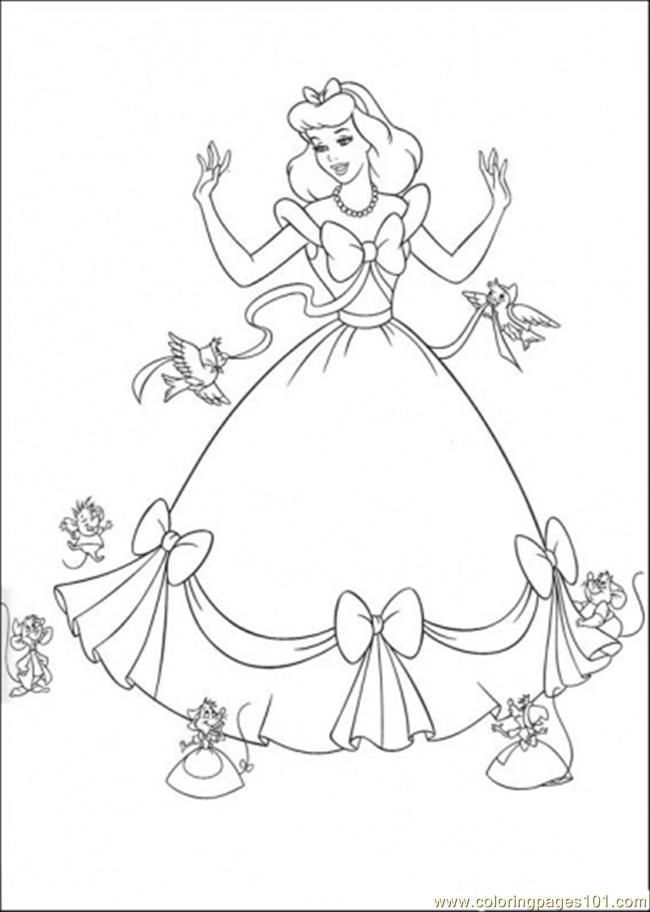 birds from cinderella picture to color | Coloring Pages Birds And ...