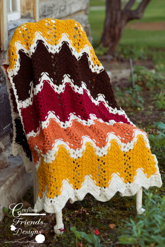 TriSquare Chevron Afghan Photography Prop Crochet Pattern by ...
