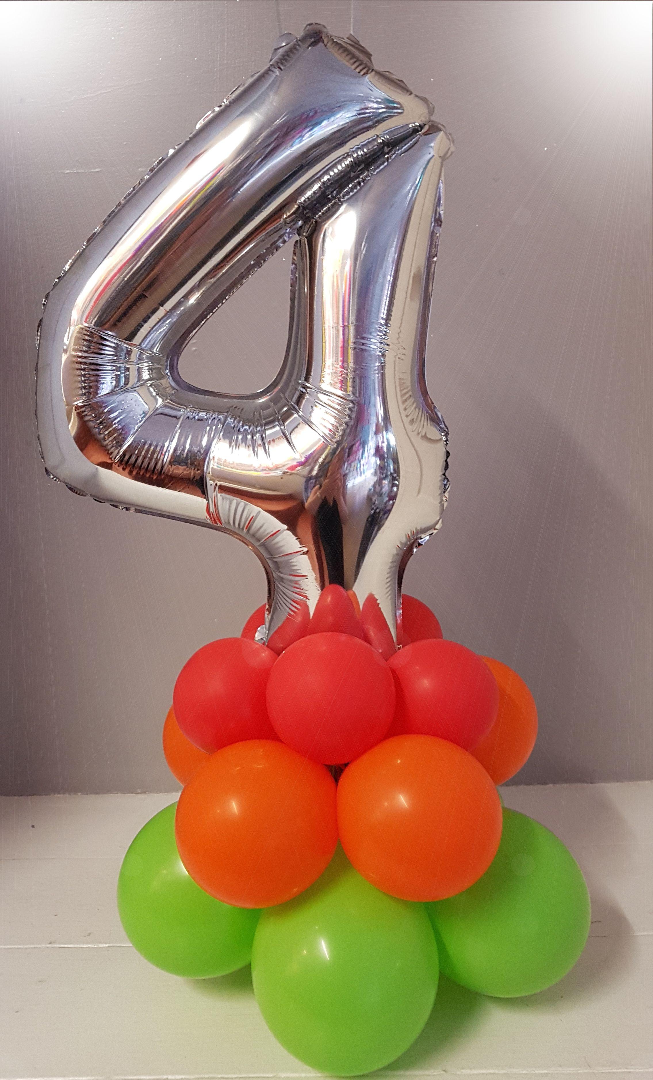 Balloon Centrepiece Age 4 Arrangements Centerpieces Decorations Happy Birthday