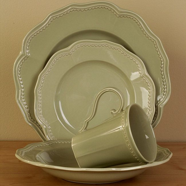 Place Settings For Less & br\u003e\u003cli\u003eRed Vanilla Country Estate solid Dinnerware Set adds old ...