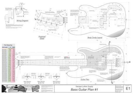 Precision Bass Template Bass Beauty Guitar Bass