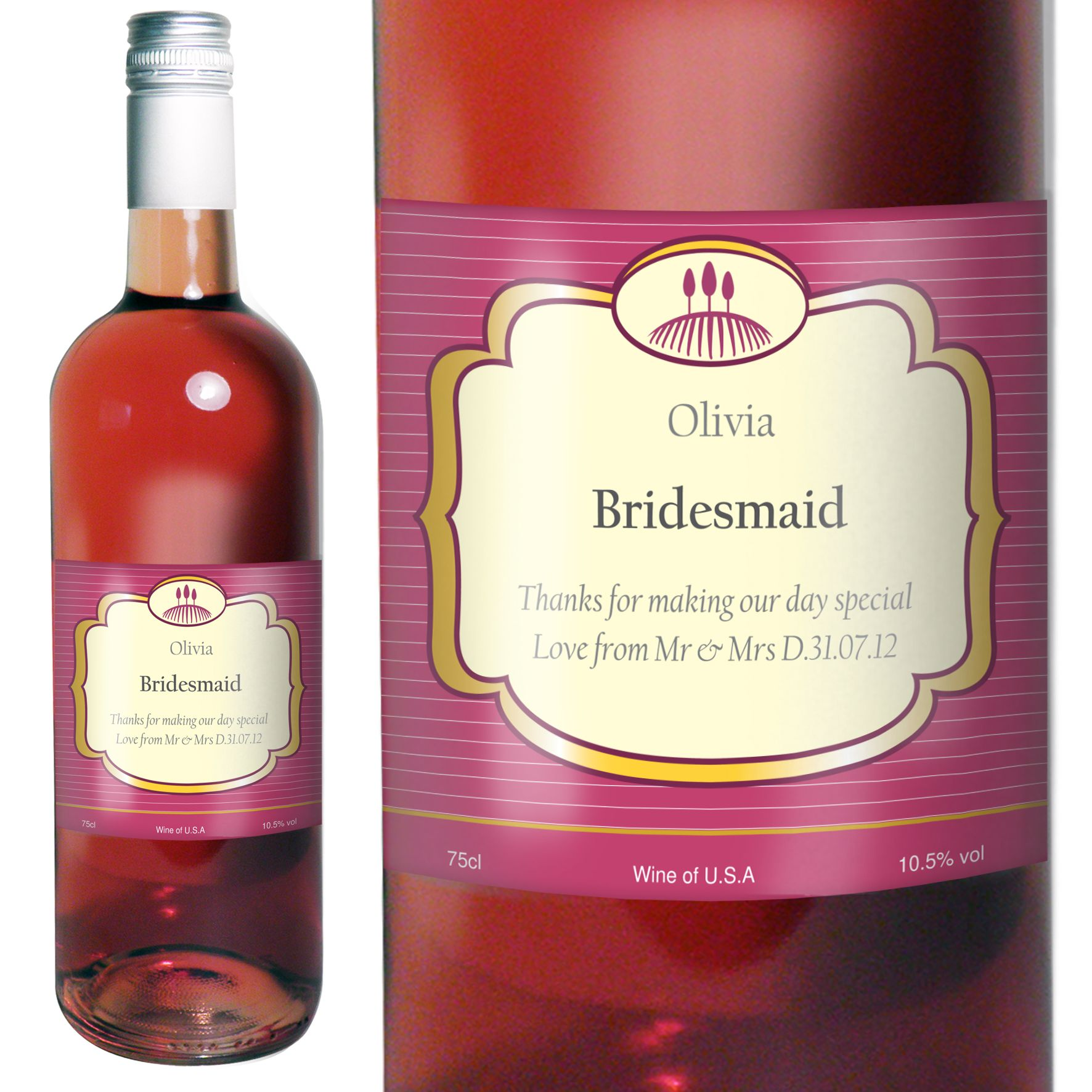 Labels Idea Personalized Wine Labels Wine Rose Wine