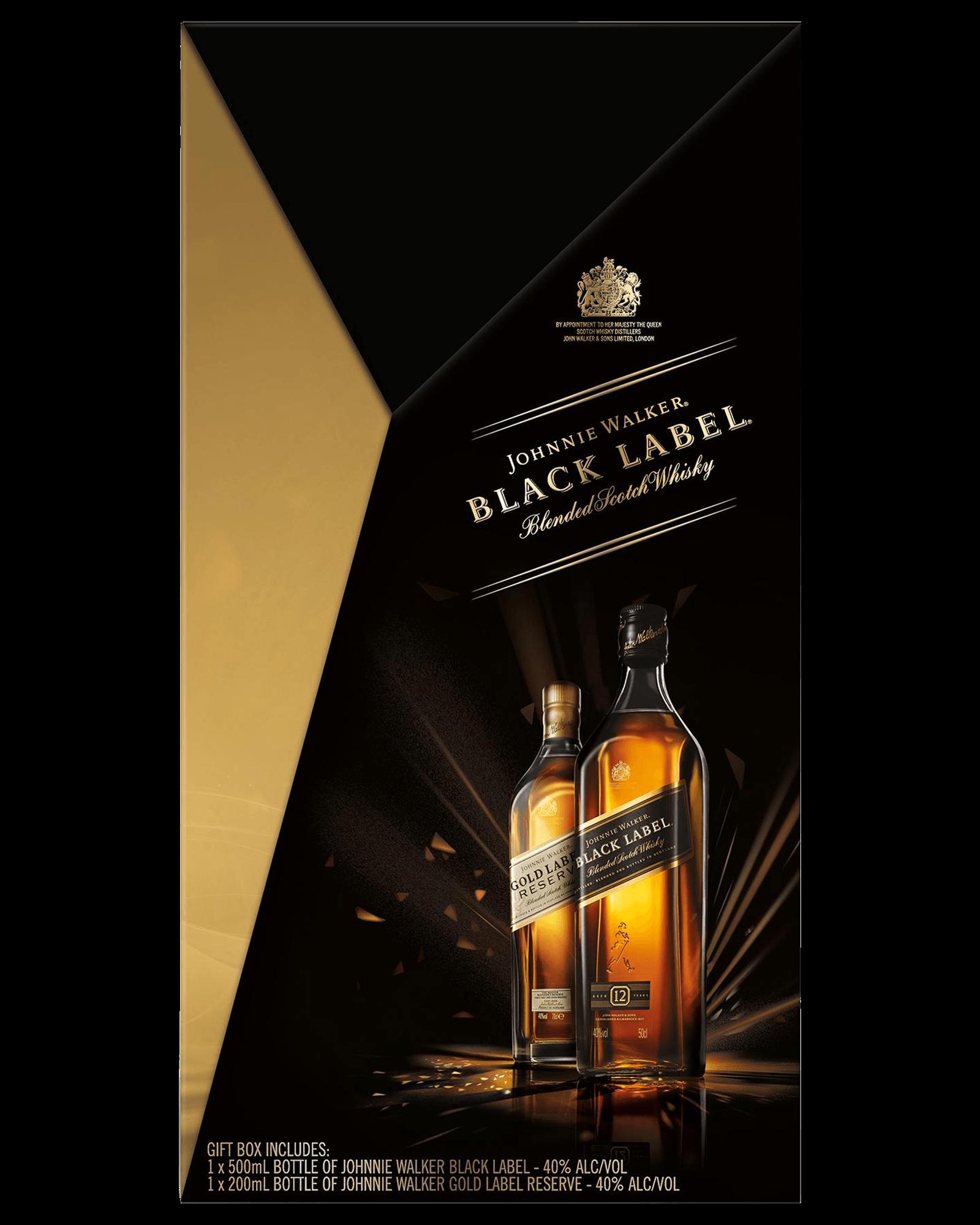 Johnnie Walker Black & Gold Label Scotch Whisky Gift Pack