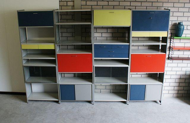 Gispen 5600 Cordemeijer Kast Wandmeubel Vintage Jaren 60 70