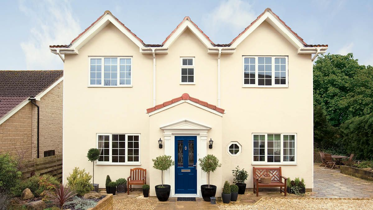 Dulux inspirations classic cream royal blue interior for Building exterior colour