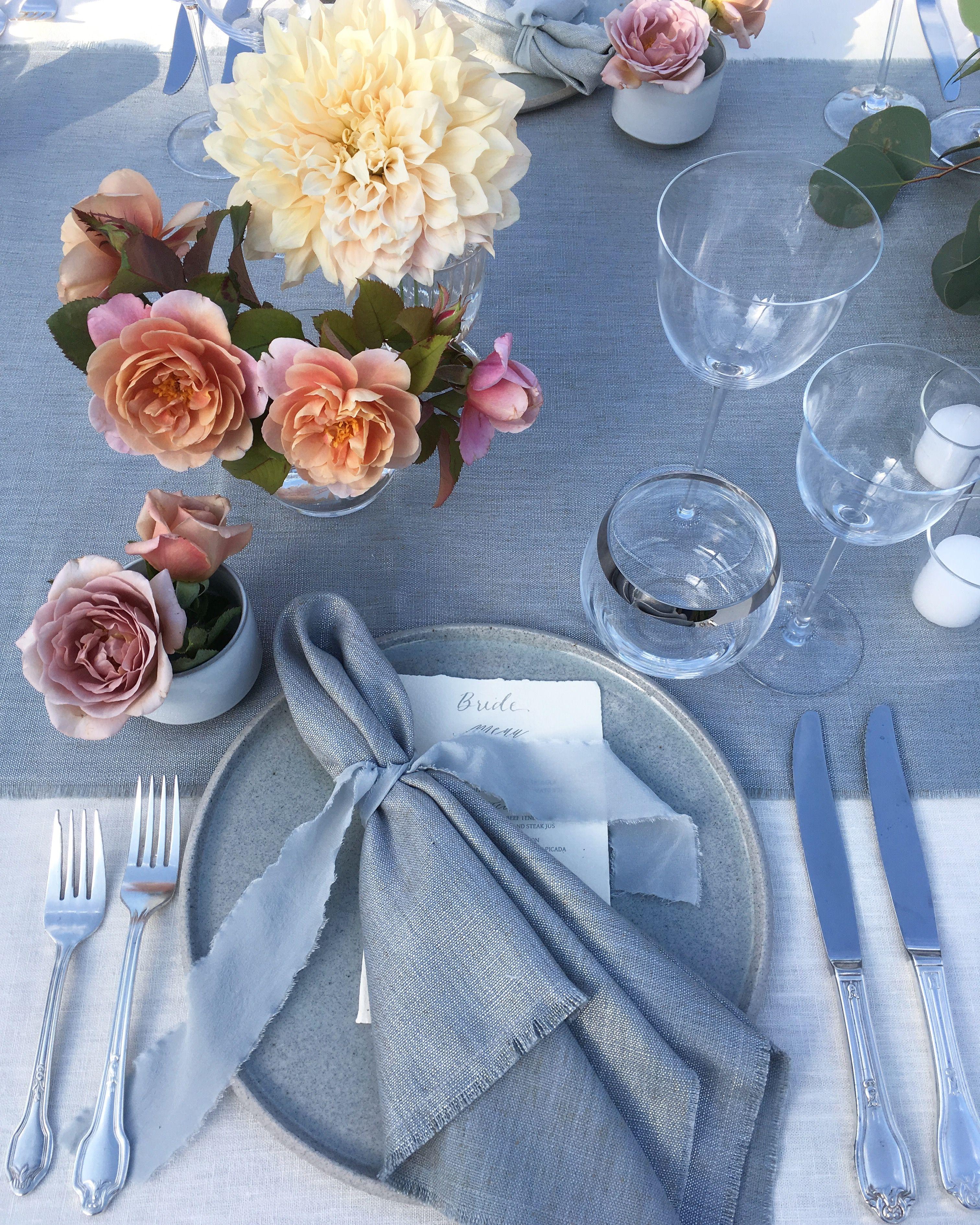 The ARK collection Lunar Mist Dinner plates / Seafoam
