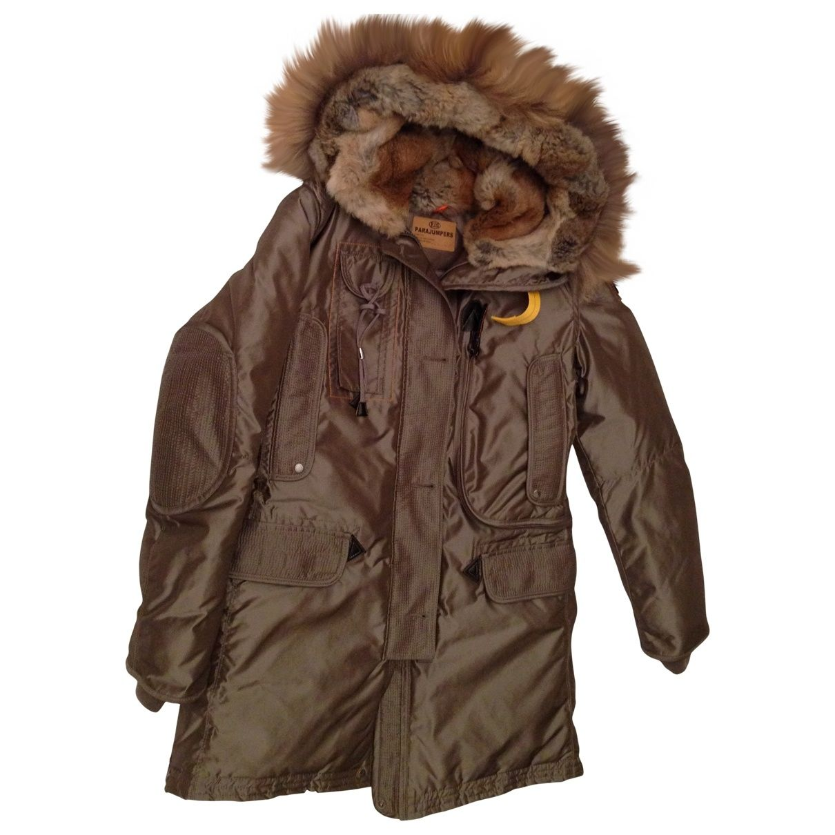 Parajumpers Khaki Polyester Coat Clothes For Women Winter Jackets