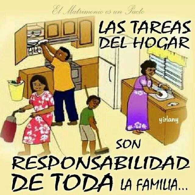 Las Responsabilidades Del Hogar Tareas Del Hogar Tareas De Casa