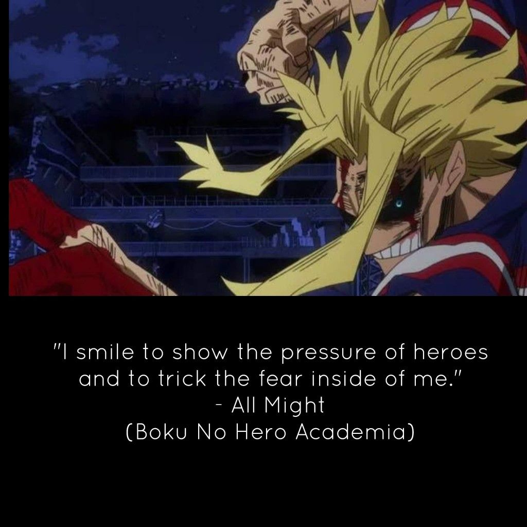 Pin By Flame On Anime Quotes Anime Quotes I Smile Boku No Hero Academia
