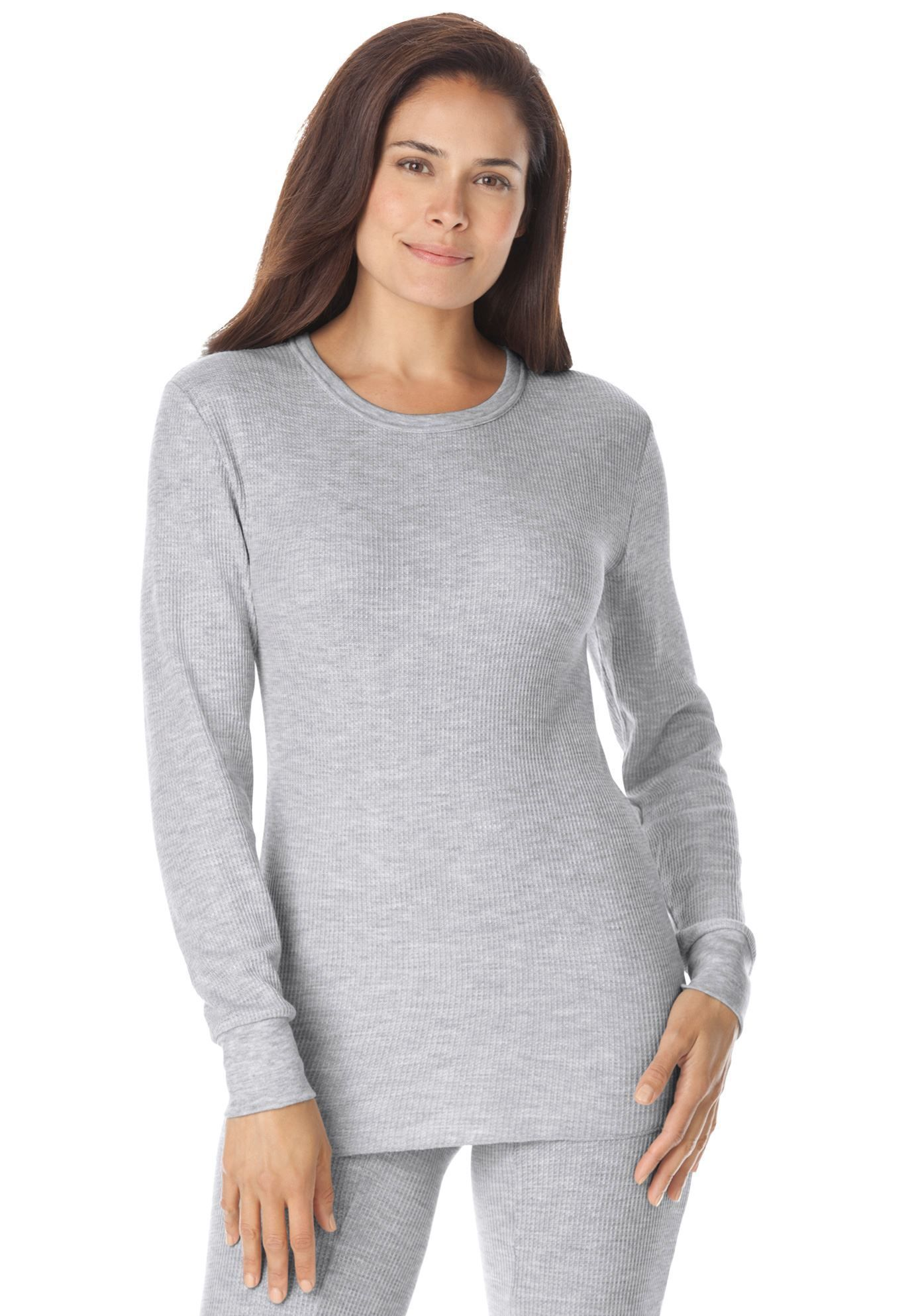 80b781de62a Thermal Knit Sleep Tee by Comfort Choice - Women s Plus Size Clothing