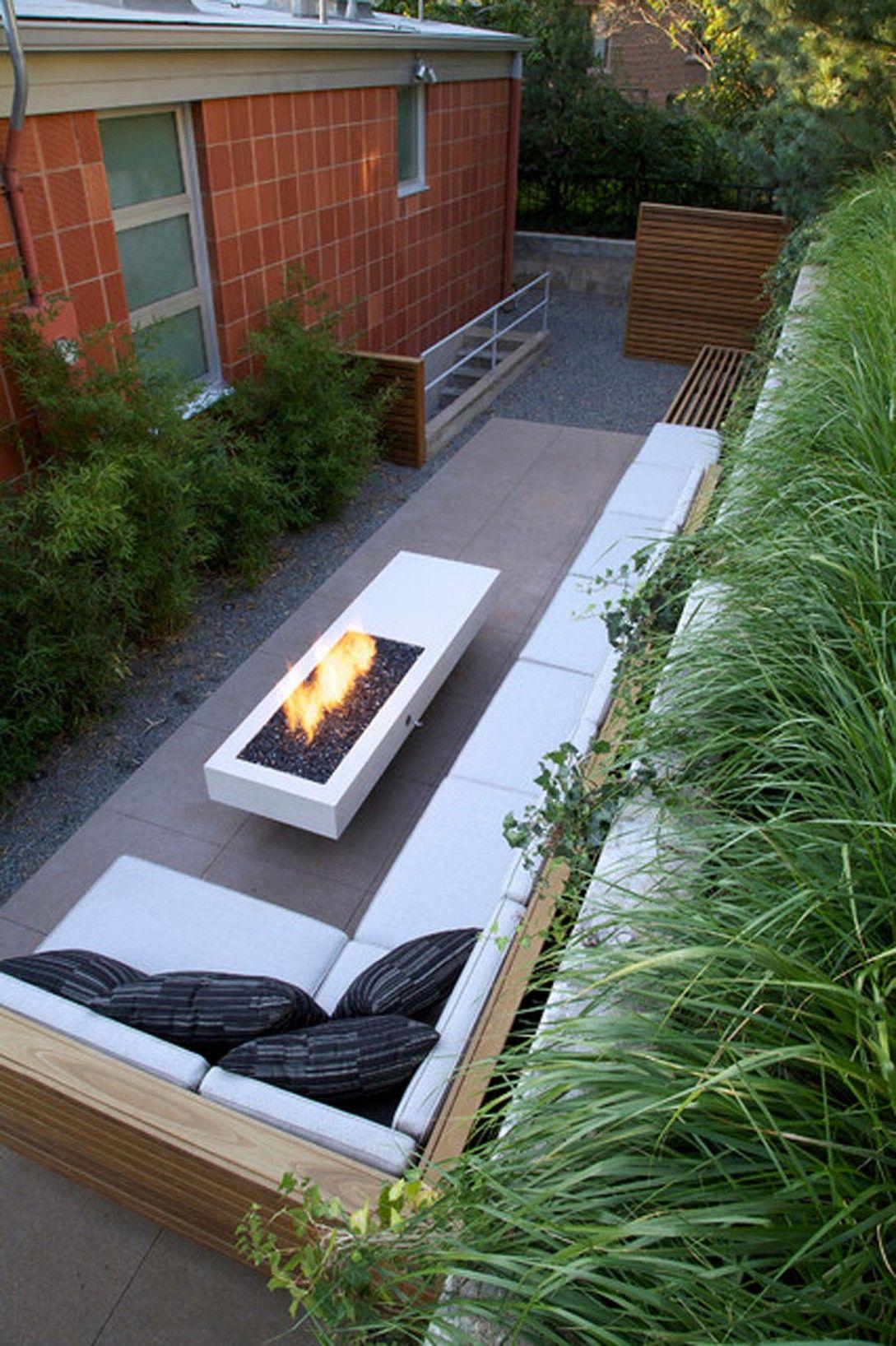 15 Modern Patio Design Ideas 4 In 2020 Small Backyard Patio Backyard Layout Narrow Backyard Ideas