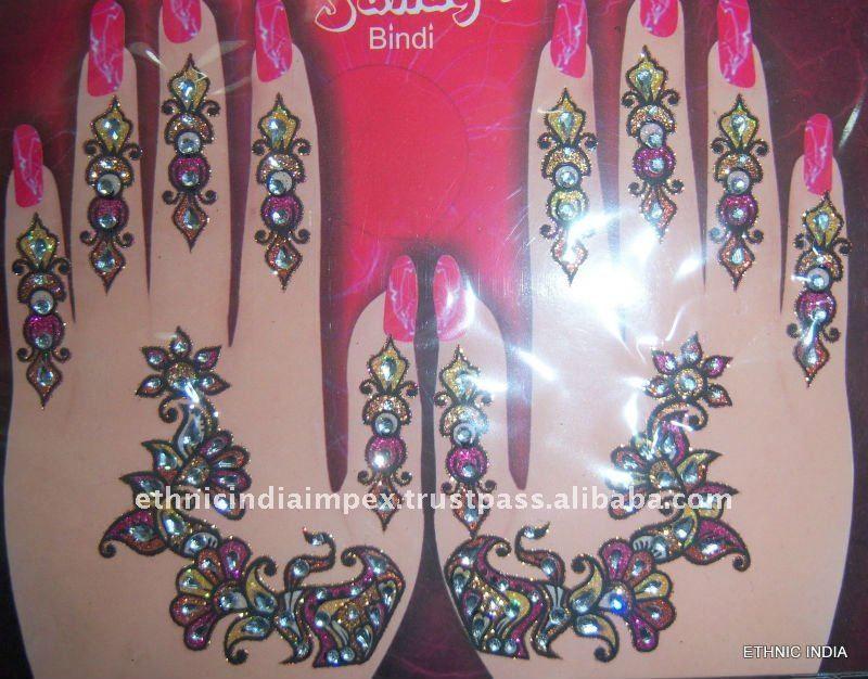Henna Mehndi Stickers : Glitter henna mehndi stickers