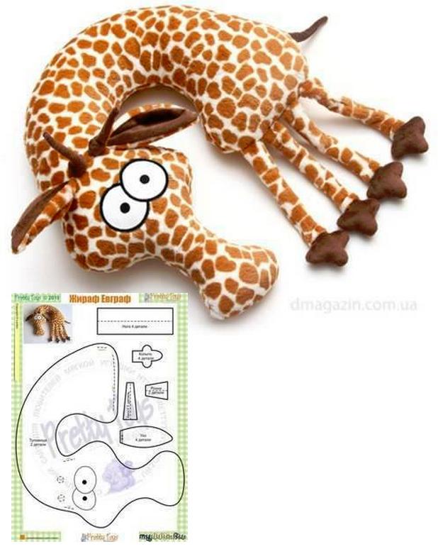Giraffe Nackenkissen | nähen | Pinterest | Nackenkissen, Giraffen ...