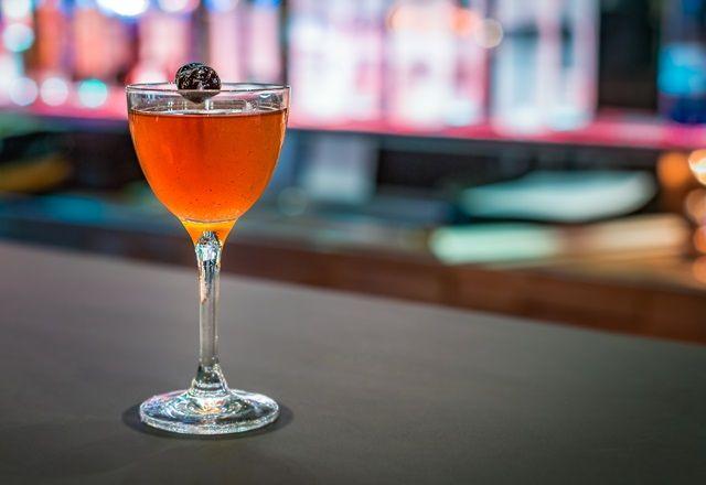 Grilled rum Manhattan