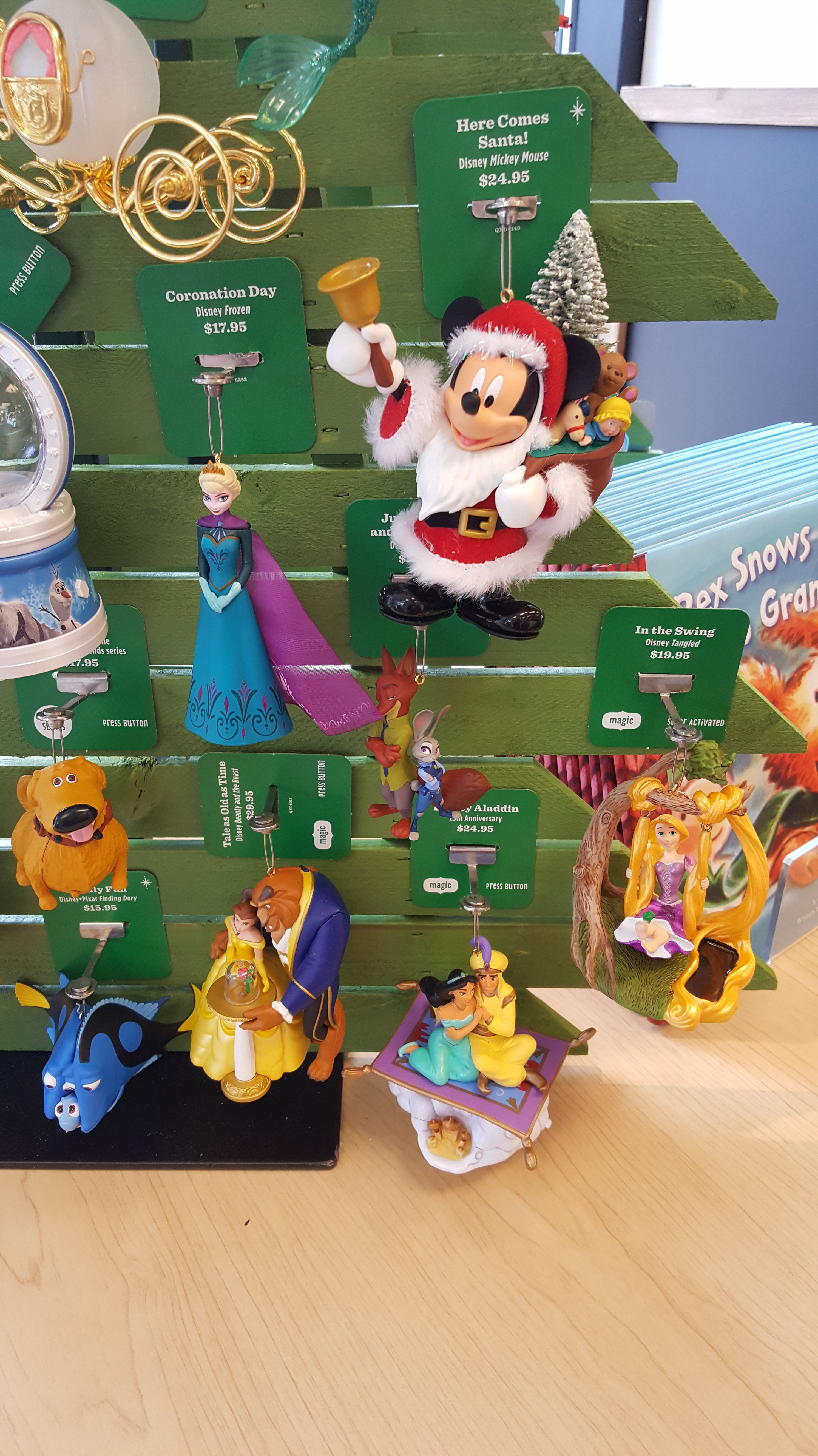The Hallmark Disney Christmas Ornament Debut is