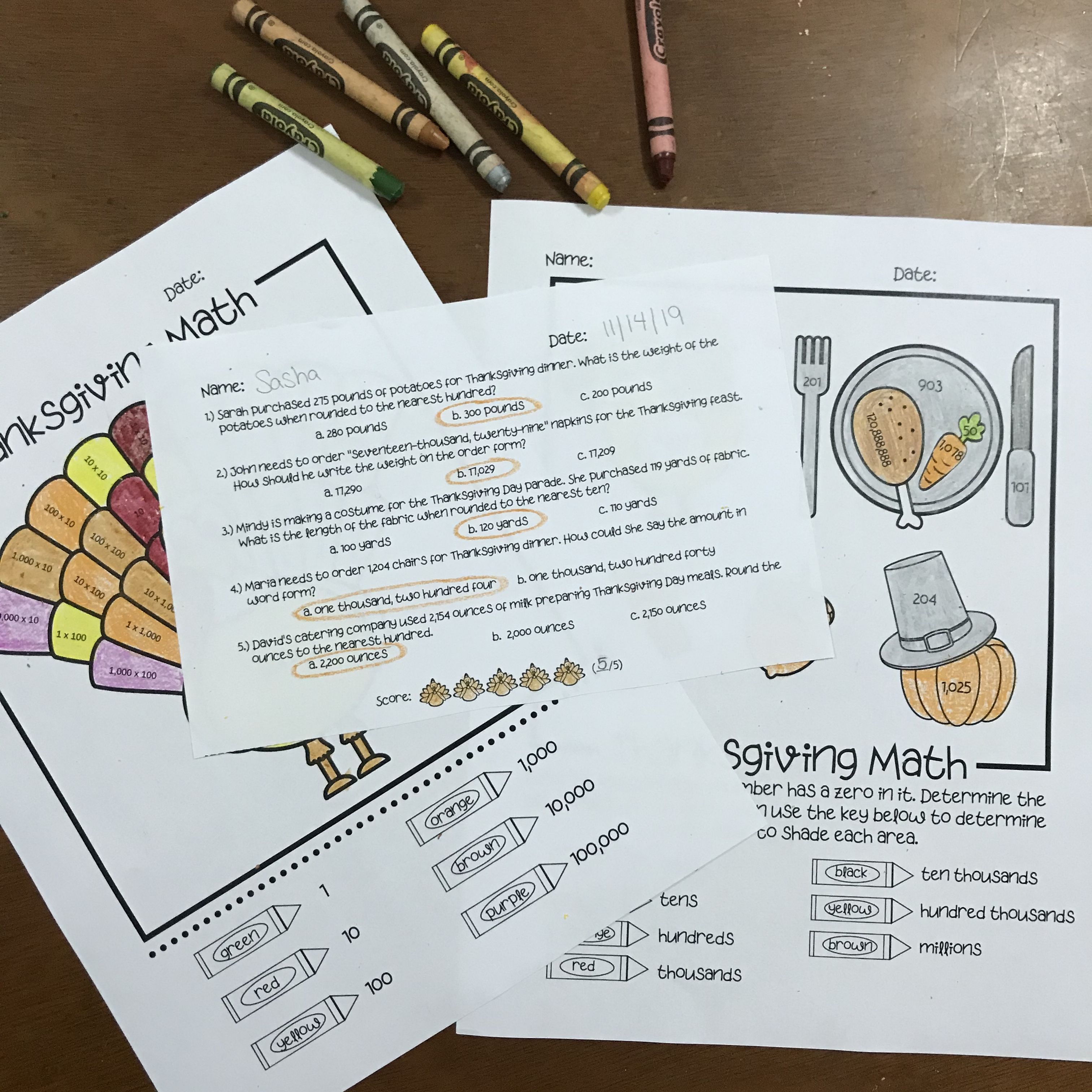 Celebrate Thanksgiving With Place Value This Resource