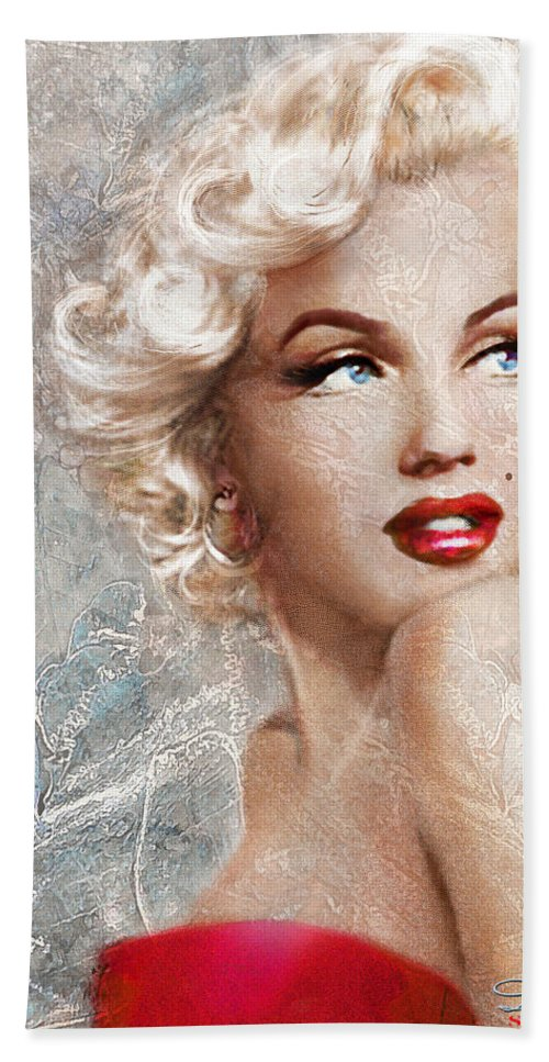 Marilyn Danella Ice Beach Towel for Sale by Theo D