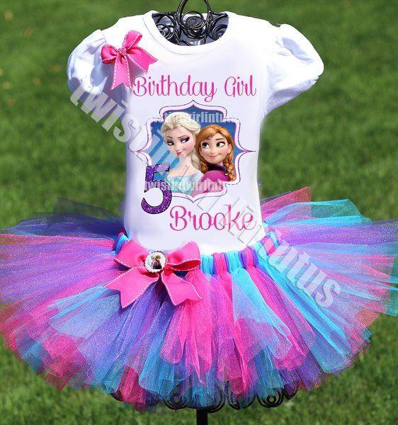 Frozen Birthday Outfit, Elsa Tutu Outfit | Twistin Twirlin Tutus