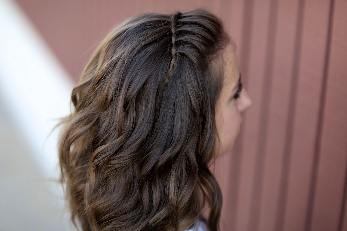 Faux waterfall braid headband hair pinterest waterfall
