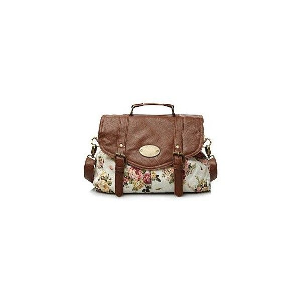 Fl Print Satchel Bag George At Asda 6 Liked On Polyvore Featuring Bags Handbags Purses Bolso Man Purse