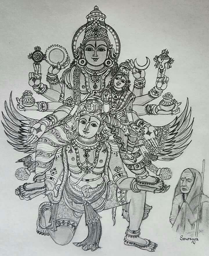 Jaya jaya sankara hara hara sankara after a break smt sowmya is back with an exquisite sketch for this auspicious vaikunta ekadasi