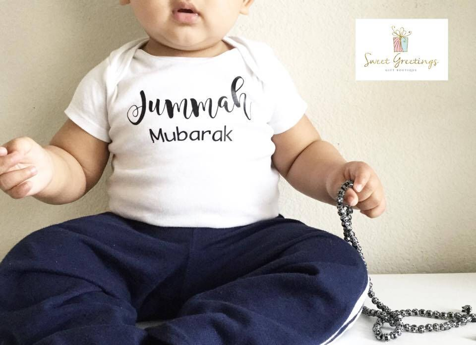 Baby Gifts For Muslim : Jummah mubarak bodysuit or shirt eid gift ramadan