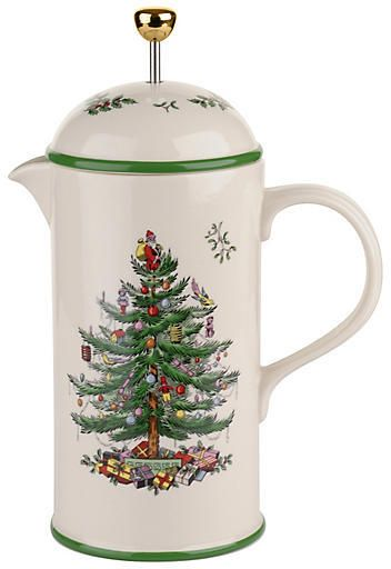 Spode Christmas Tree French Press - Green CHRISTMAS CHINA II in