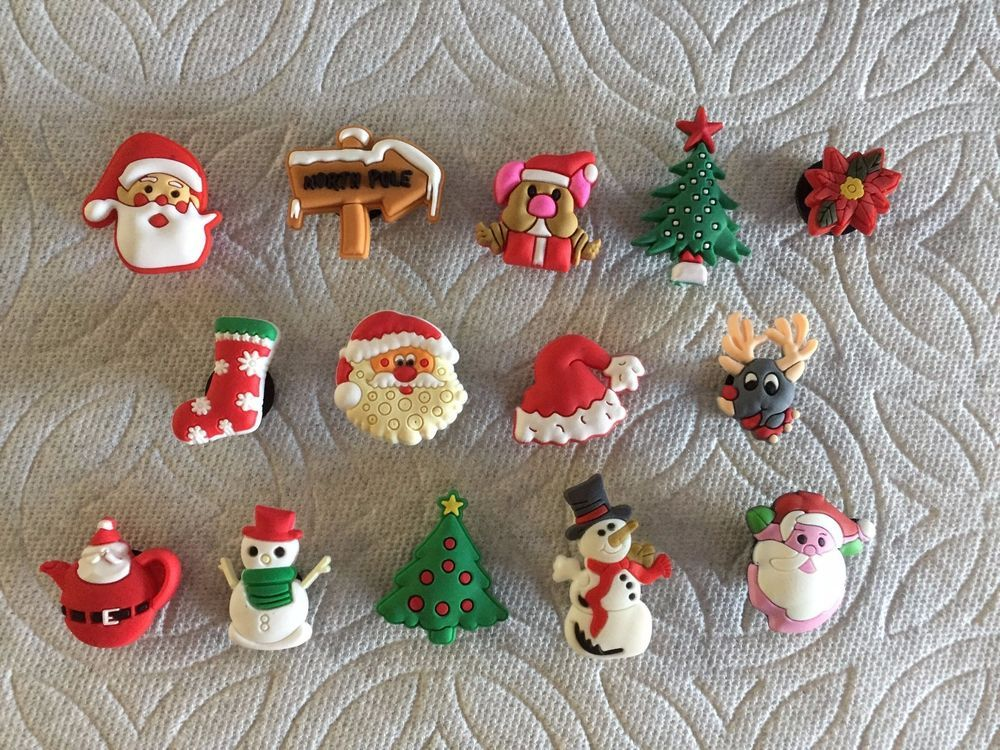 Christmas Shoe Charm Reindeer Santa Poinsettia Teapot Christmas Mouse Shoe Charm Christmas Shoes Shoe Charms Christmas Mouse