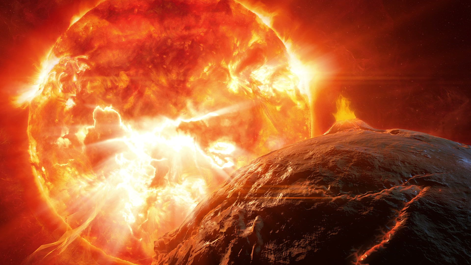 The Dramatic Explosion Of The Red Giant Star Stock Footage Red Explosion Dramatic Giant Red Giant Giant Star Explosion