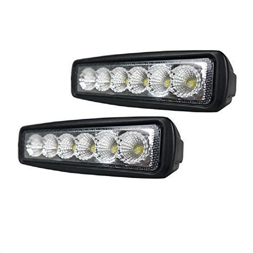 2 x 18 W LED Flood Beam Searchlight lampe spot pour voitures