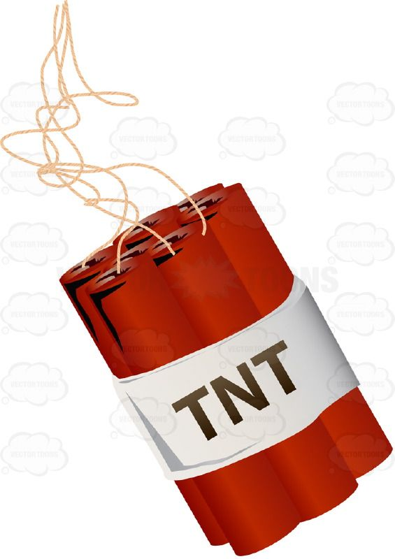 Bundle Of Red Sticks Of Tnt Dynamite With Long Fuses ...