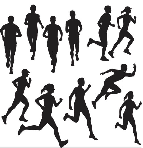 runners silhouettes vector silhouettes vector free download ideas rh pinterest ie woman runner silhouette vector