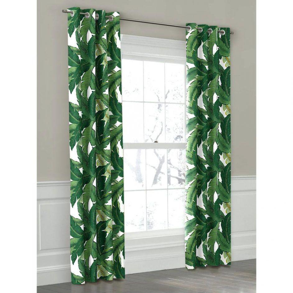 Shower Curtains Green Banana Leaf Grommet Outdoor Curtain Loom Decor Circo Jungle Animal Hooks Bathroom Ideas