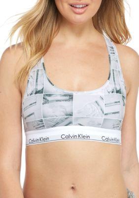 75285eafccd9 Calvin Klein Women's Modern Cotton Logo Bralette - Qf1659 - Instagram Print  - Xl