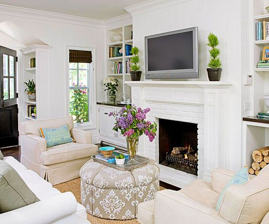 Built Ins Around Fireplace Love Small Living Room Furniture