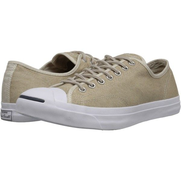 Converse Jack Purcell Jack Ox Lace up casual Shoes, Beige ($65) ❤ liked on Polyvore featuring shoes, beige, converse shoes, laced up shoes, laced shoes, beige shoes and patterned shoes