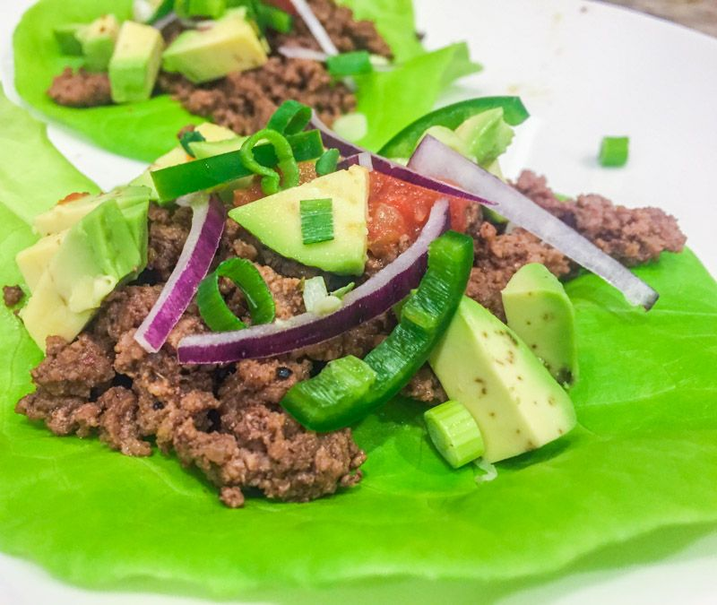 Taco lettuce wraps, one of the best things we ate this month. Check out the series for the full delicious round up of the best restaurant meals to homecooked recipes.   rootandrevel.com