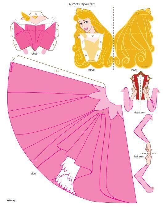 Vystrihni si  ✄ princezničky, ponny, minnie - http://a.family.go.com/images/cms/entertainment/belle-papercraft-printable-0210.pdf - Album používateľky mery333 - Foto 6   Modrykonik.sk