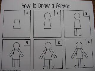 Kindergarten 12 13 How To Draw A Person Teach Kids To Draw Kindergarten Drawing Art Drawings For Kids