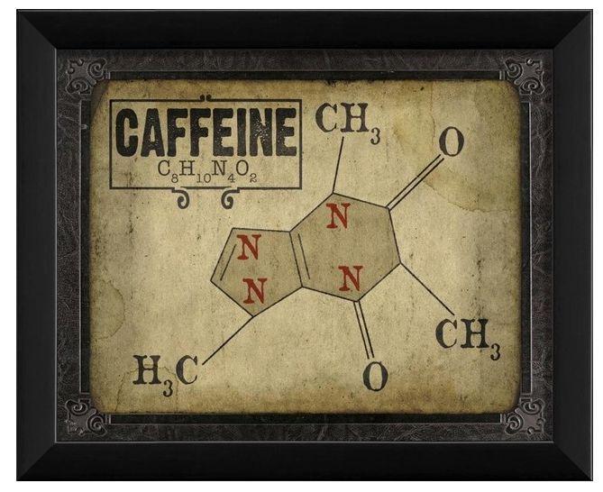 Caffeine molecule artwork | Starbucks, Coffee, Tea, and Hot ...