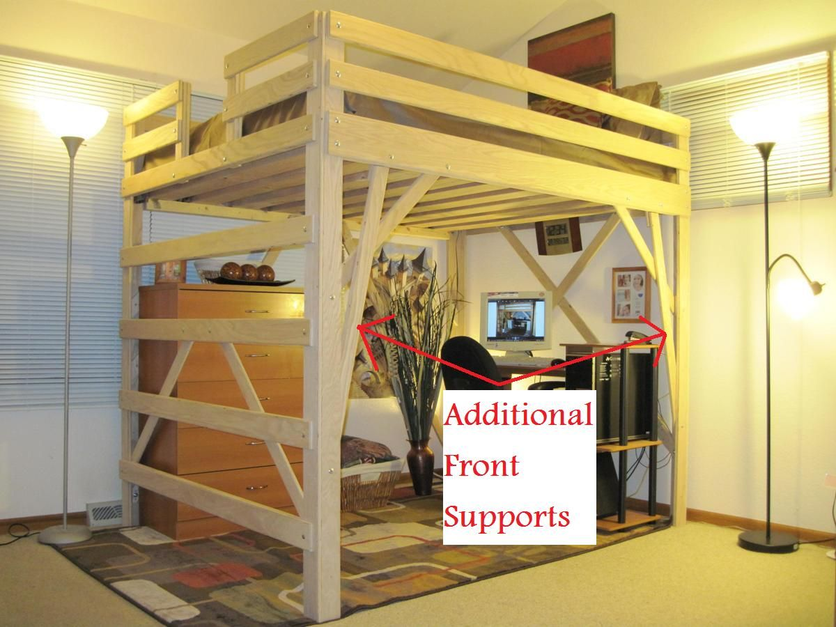 Queen loft bed ideas  Loft Bed Design  Decoración habitacion  Pinterest  Bed design