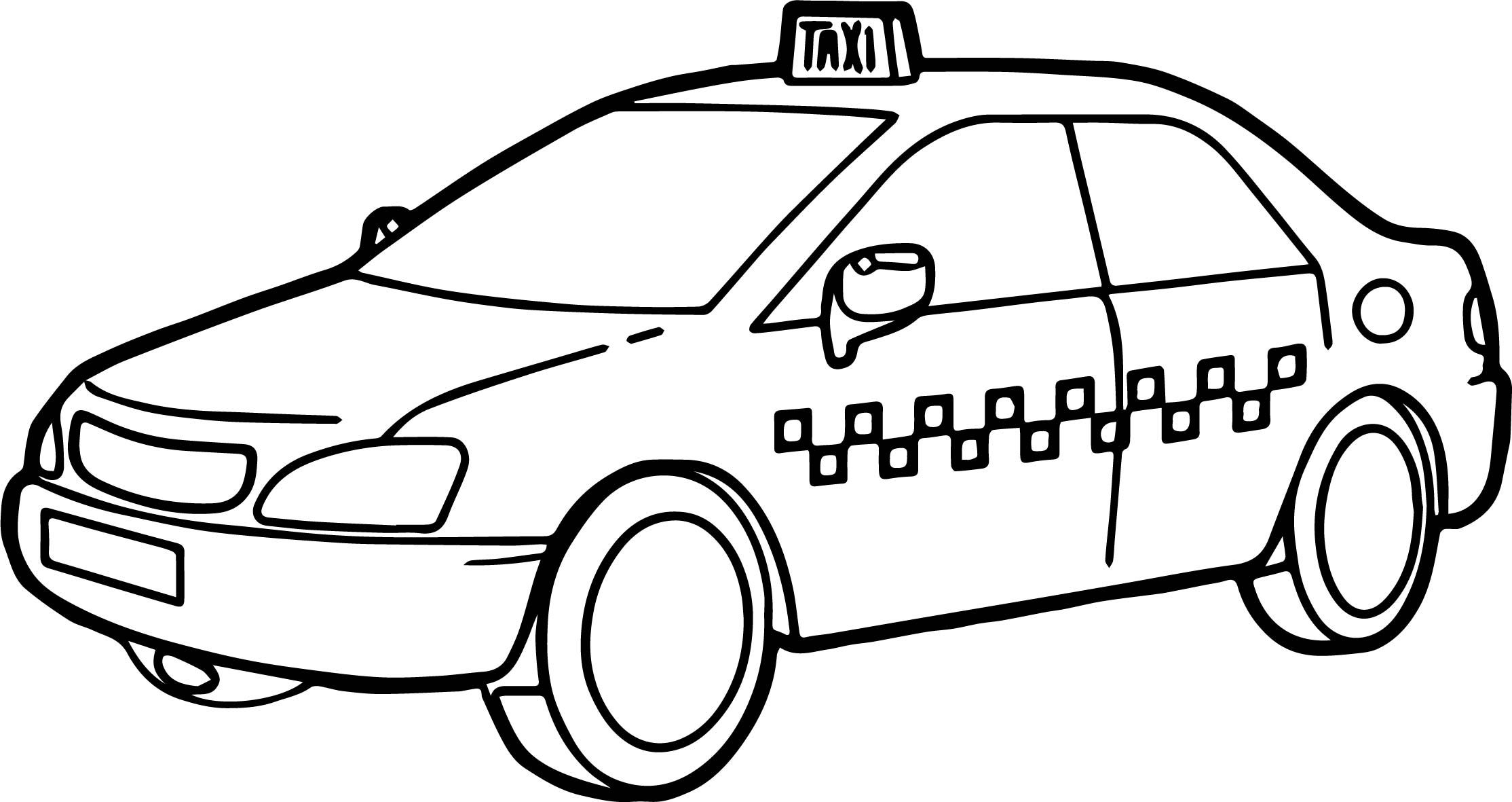 Taxi Driver Car Fast Coloring Page Fast Cars Car Coloring Pages